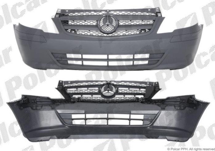 Бампер передний (серый) VITO 10-