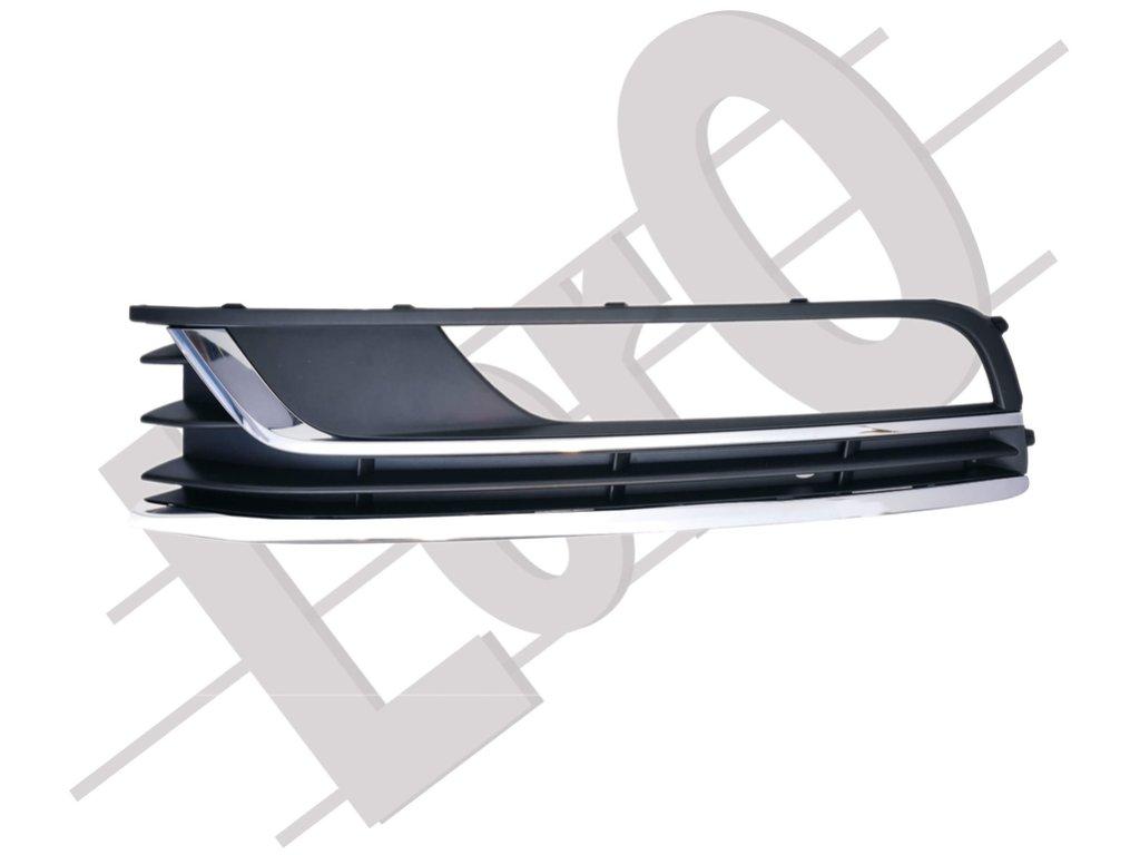 Решетка в бампер, левая (2 хром) PASSAT B7 2011-